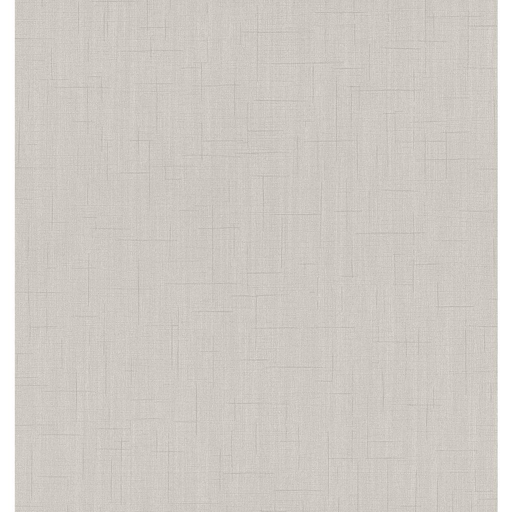 56.4 sq. ft. Tatum Light Grey Fabric Texture Wallpaper