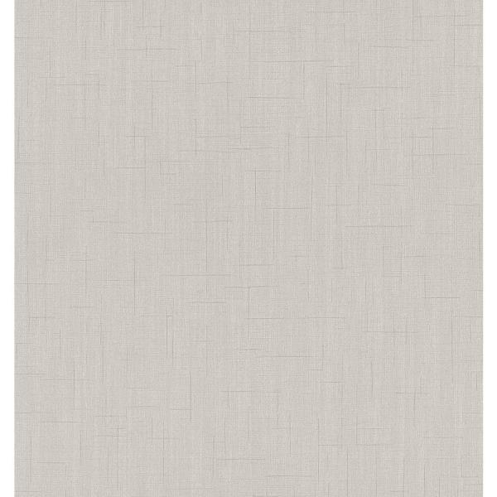 Advantage 56.4 sq. ft. Tatum Light Grey Fabric Texture Wallpaper 2799-02484-30