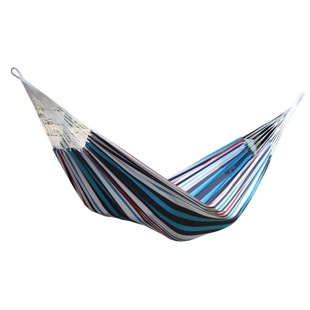 brazilian cotton double hammock in denim braz212   the home depot vivere 12 ft  brazilian cotton double hammock in denim braz212      rh   homedepot