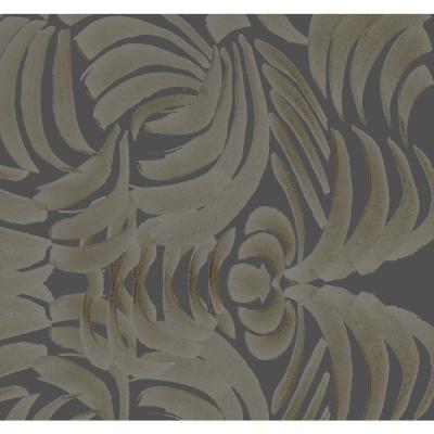 ABRA Collection Porcelain Flora Large Goldenrod Removable and Repositionable Wallpaper