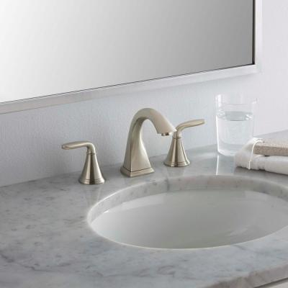 Pasadena 8 in. Widespread 2-Handle Bathroom Faucet in Brushed Nickel