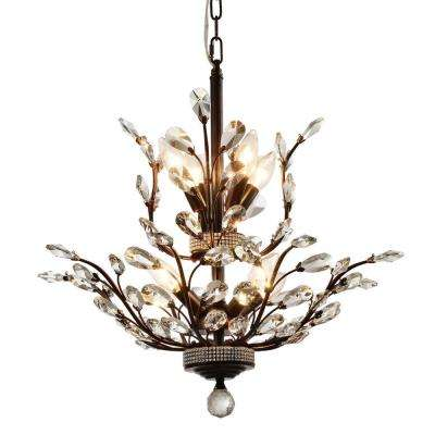 Aspen 8-Light Dark Bronze Crystal Chandelier