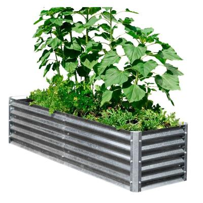 Alto Series 40 in. x 76 in. x 17 in. Galvanized Metal Garden Bed Bundle