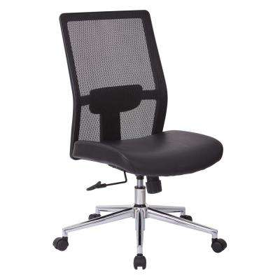 High Black Mesh Back Chair