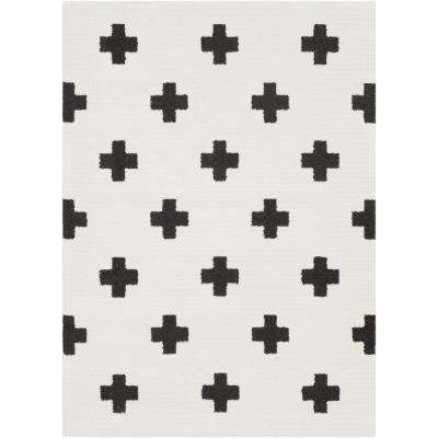 Sulaiman Black/White 5 ft. x 7 ft. Area Rug