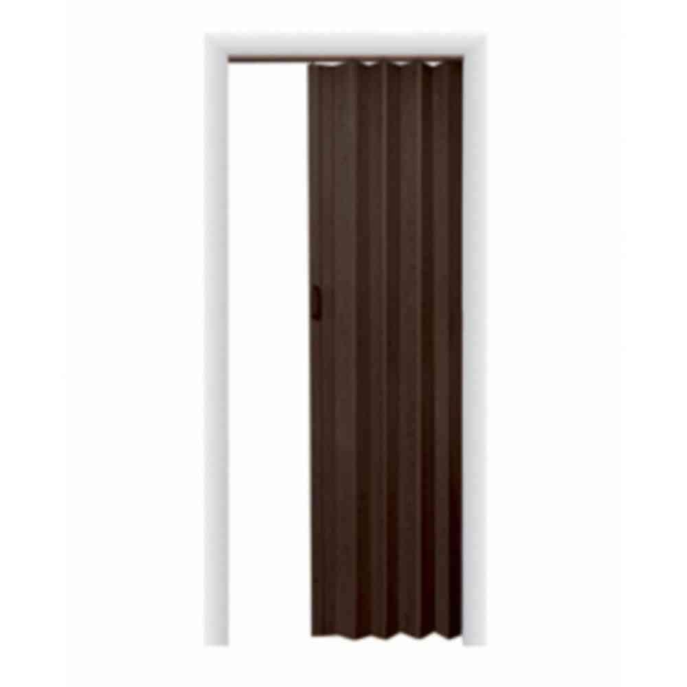 Black Accordion Doors : Spectrum in oakmont vinyl espresso accordion