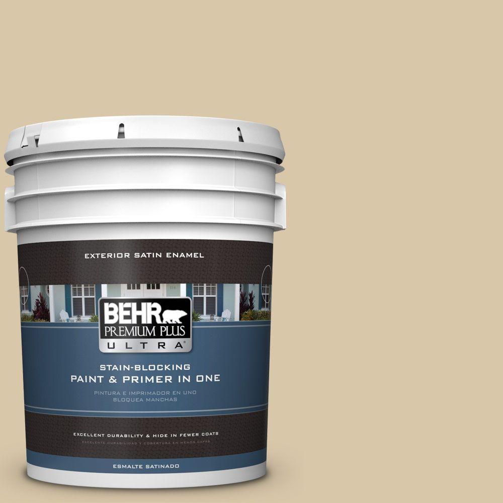 BEHR Premium Plus Ultra 5-gal. #PPU4-13 Sand Motif Satin Enamel Exterior Paint