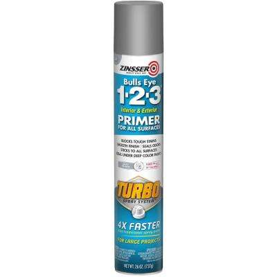 Bulls Eye 1-2-3 Plus 26 oz. Turbo Gray Interior/Exterior Primer Spray (6-Pack)