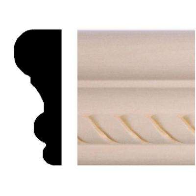 3/4 in. x 2-1/8 in. x 96 in. Hardwood Rope Colonial Panel Moulding