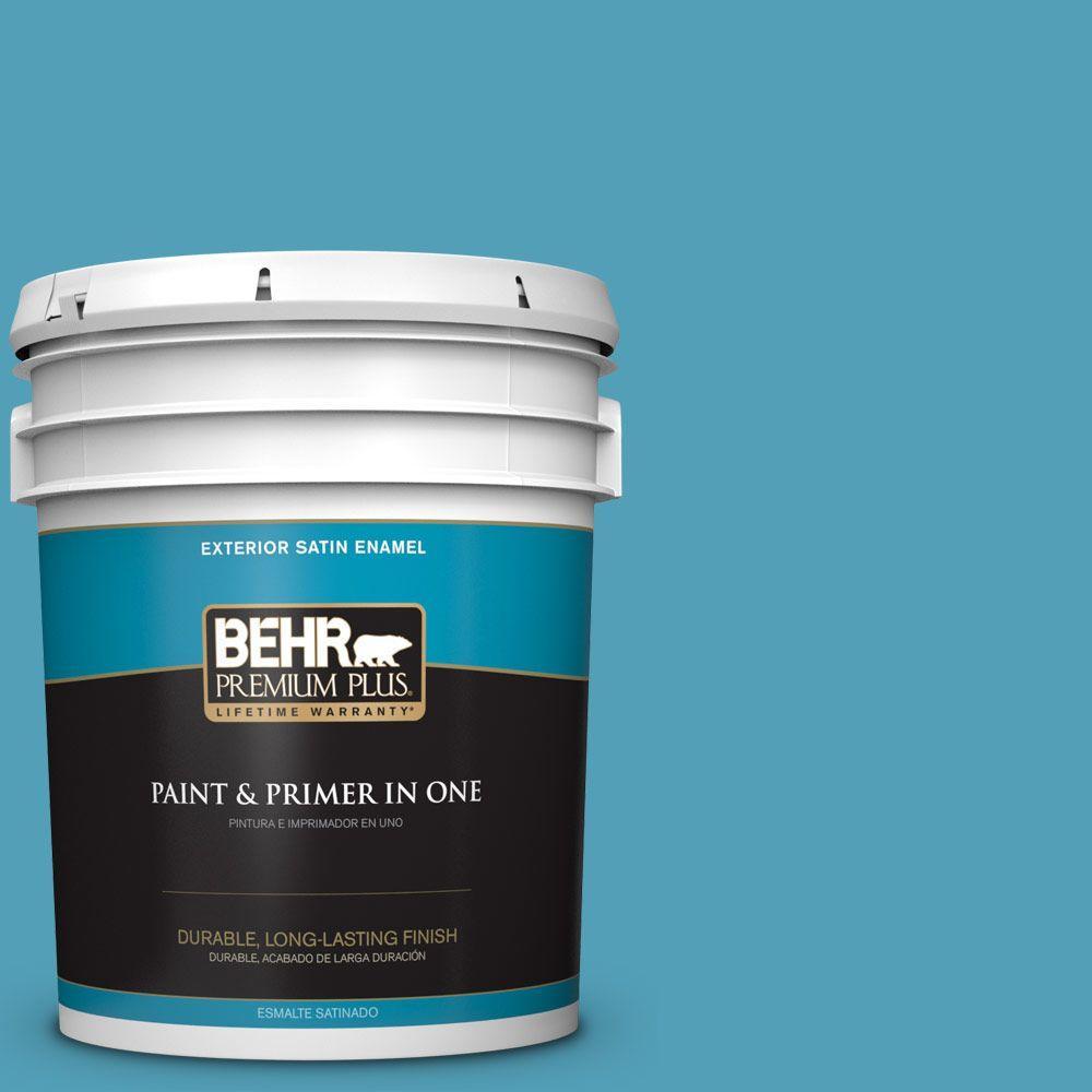 BEHR Premium Plus 5-gal. #M480-5 Eskimo Satin Enamel Exterior Paint