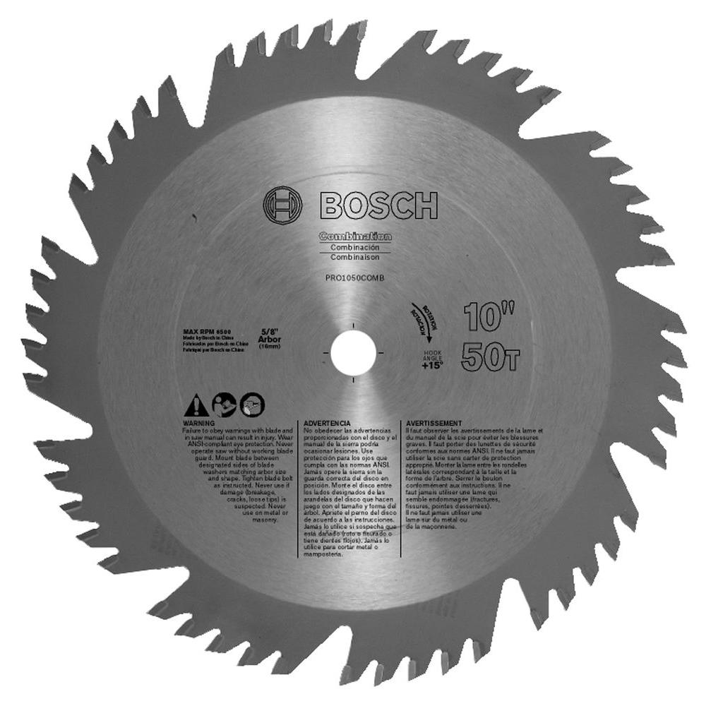 Bosch 10 in. Combination Woodworking Blade (Box)