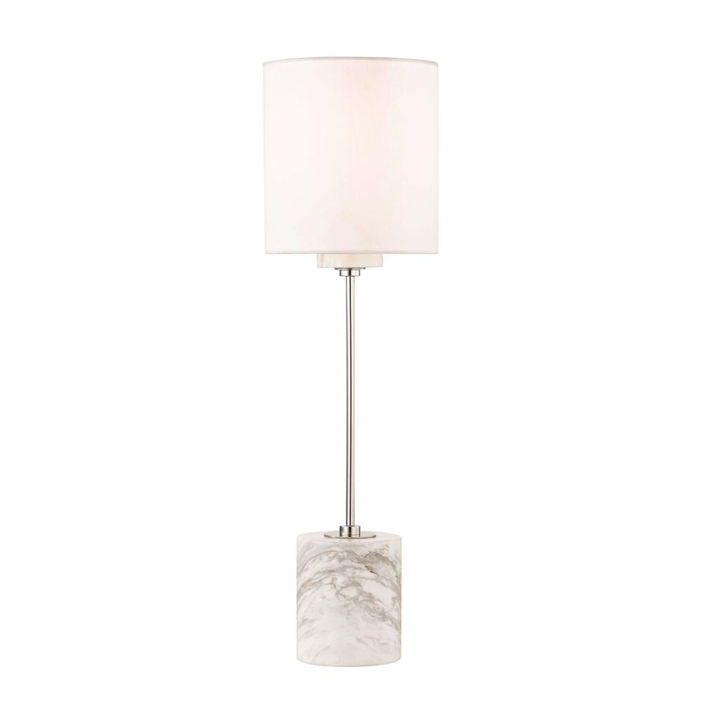 Mitzi By Hudson Valley Lighting Fiona 22 In. H Polished Nickel Table Lamp  With Faux