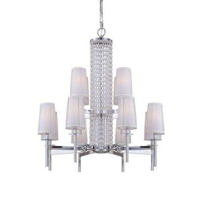Candence 12-Light Chrome Interior Incandescent Chandelier