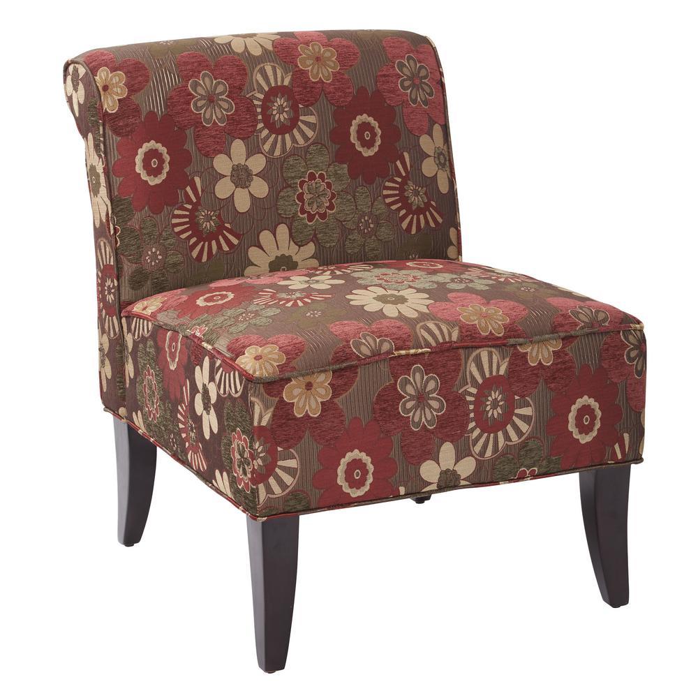 Naomi  Scarlett Merlot Chair