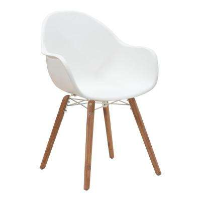 Tidal Patio Dining Chair in White (Pack of 4)