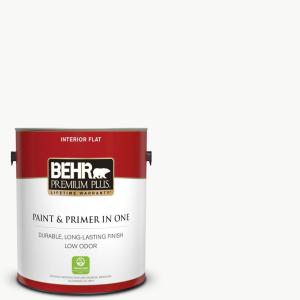 1 gal. Ultra Pure White Flat Low Odor Interior Paint and Primer in One