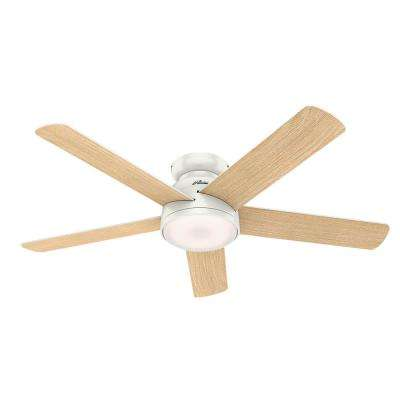 Romulus 54 in. Integrated LED Indoor Fresh White Low Profile Ceiling Fan with Light Kit and Remote Control