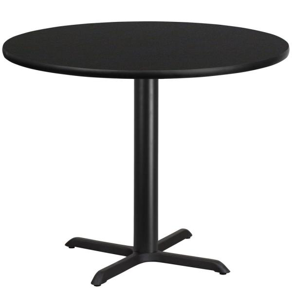Flash Furniture 42 In Round Black Laminate Table Top With 33 In X