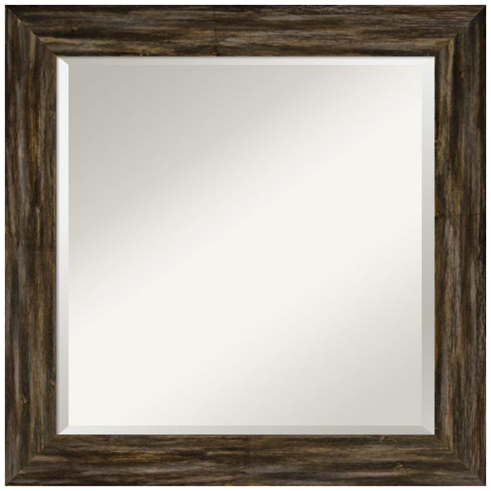 Amanti Art Fencepost Brown 24.62 in. x 24.62 in. Bathroom Vanity Mirror was $163.12 now $99.99 (39.0% off)