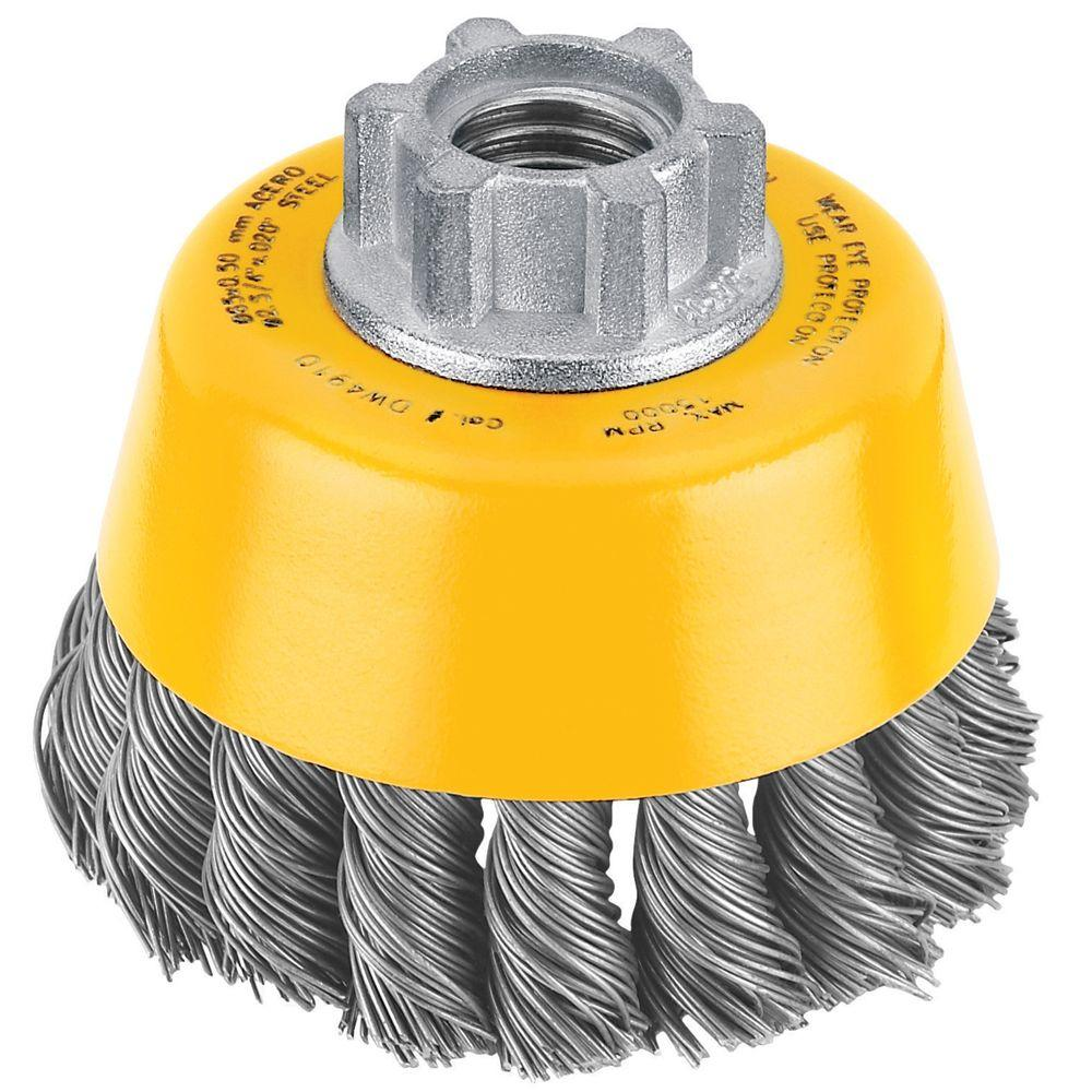 DEWALT 3 in. x 5/8 in. Carbon Knot Wire Cup Brush