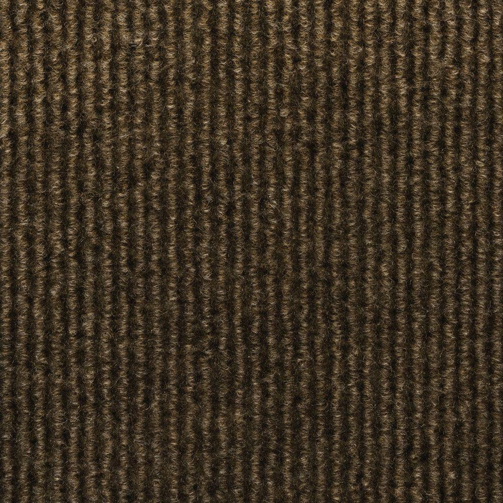 TrafficMASTER Sisteron Walnut Wide Wale Texture 18 in. x 18 in. Indoor/Outdoor Carpet Tile (10 Tiles/Case)