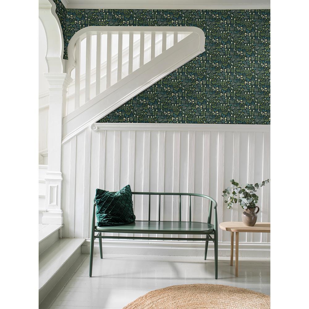 57.8 sq. ft. Strawberry Field Multicolor Garden Wallpaper