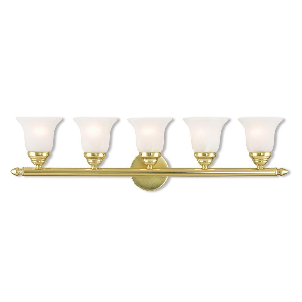 Neptune 5-Light Polished Brass Bath Light