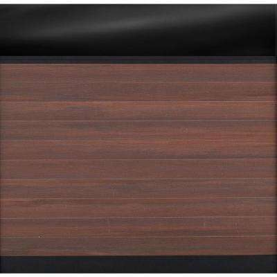 Euro Style 6 ft. H x 6 ft. W Acrylic Top Black Rose Aluminum/Composite Horizontal Fence Section