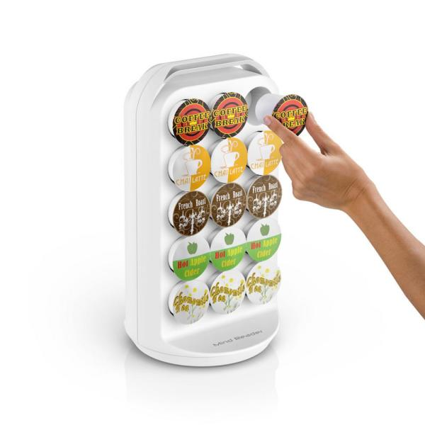 30-Capacity White K-Cup Storage and Coffee Pod Carousel