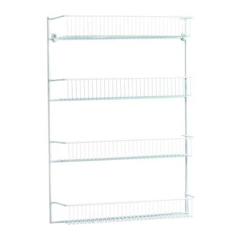 19 in. wide 4-Tier Storage Rack