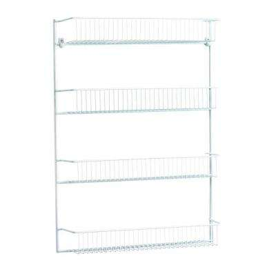 19 in. wide 4-Tier Storage Rack