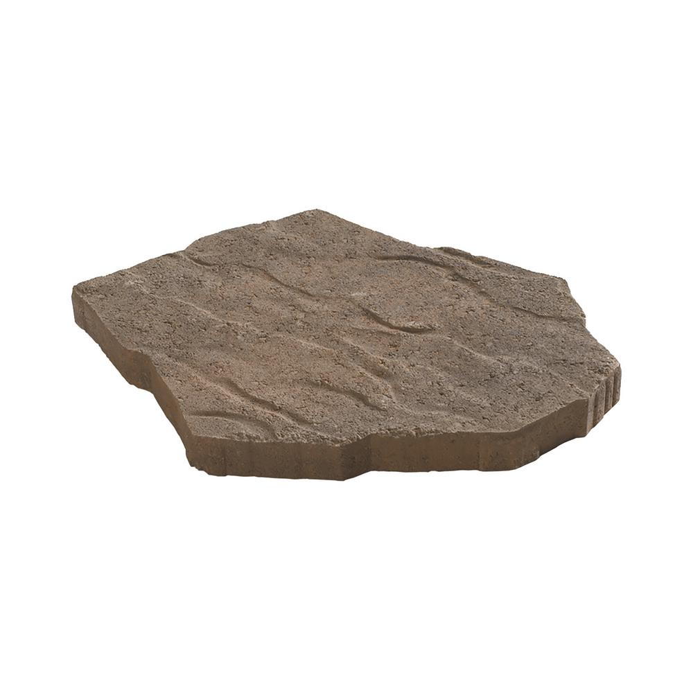 Oldcastle Portage 21 in. x 15.5 in. x 1.75 in. Tan/Brown Irregular Concrete Step Stone (90 Pieces / 134 sq. ft. / Pallet)