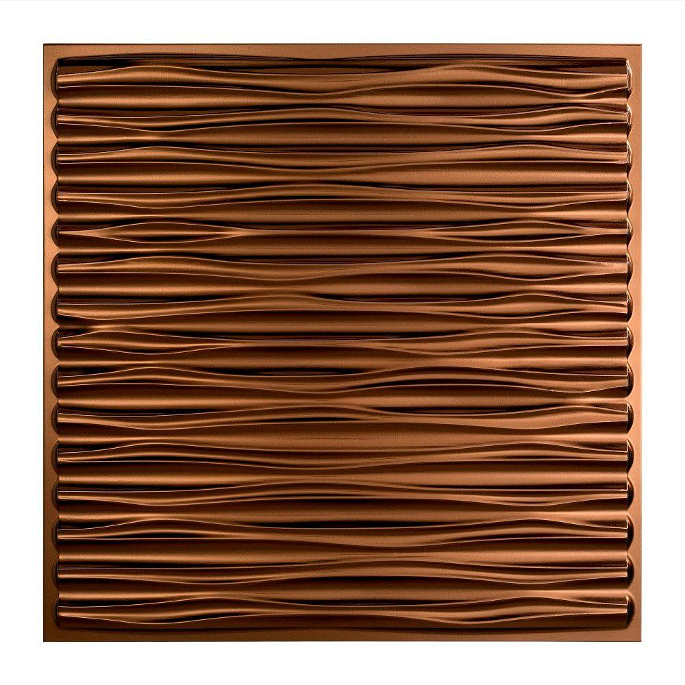 Fasade Dunes 2 Ft X 2 Ft Oil Rubbed Bronze Lay In Vinyl Ceiling Tile 20 Sq Ft Pl7526 The Home Depot