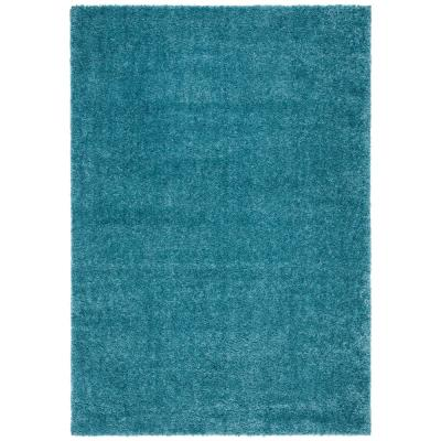August Shag Turquoise 9 ft. x 12 ft. Area Rug