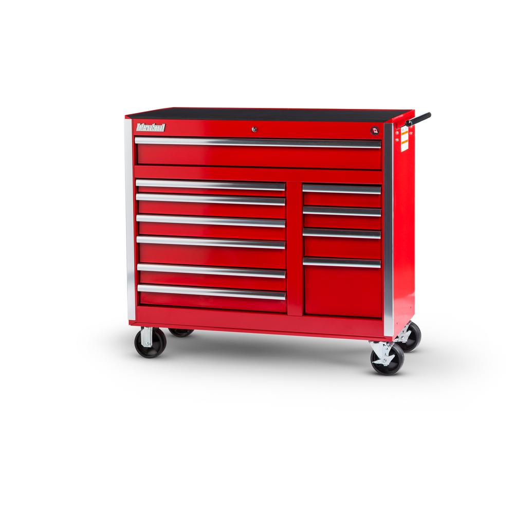 42 in. Tech Series 11-Drawer Cabinet, Red