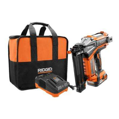 18-Volt Li-Ion Cordless Brushless HYPERDRIVE 18-Gauge 2-1/8 in. Brad Nailer, Battery, Charger, Nails, Belt Clip, Bag
