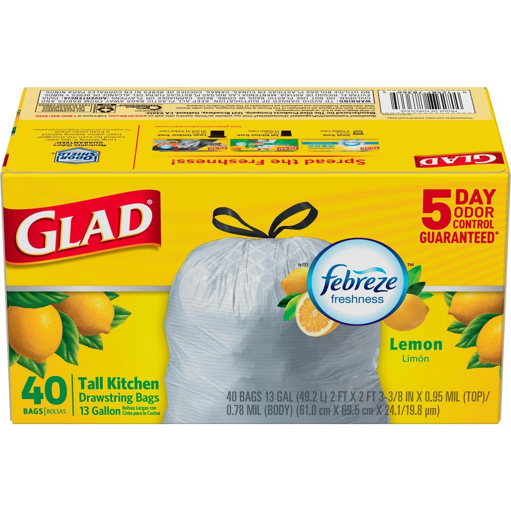 13 Gal. Fresh Lemon Febreze Odor Shield Drawstring (40-Count)