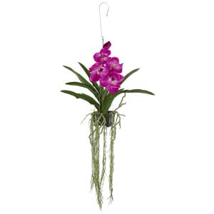 Nearly Natural 41 inch Vanda Orchid Hanging Basket Artificial Plant by Nearly Natural