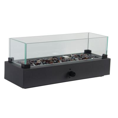 Lara 20 in. x 7 in. x 8.1 in. Rectangle Table Top Fire Bowl