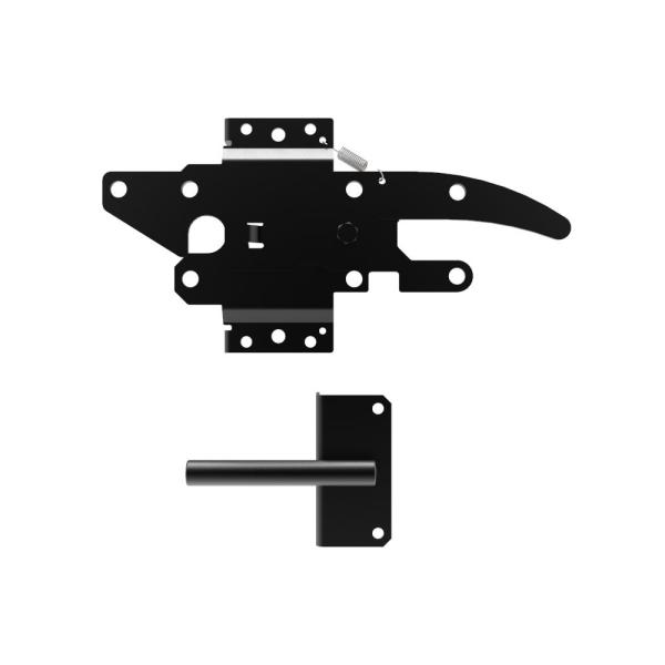 2.75 in. x 8.27 in. Black Stainless Steel Standard 2-sided Post Latch