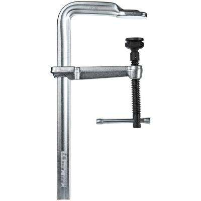 12 in. Capacity 5-1/2 in. Throat Depth All Steel Clamp with Heavy Duty Pad