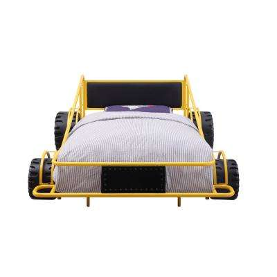 Taban Yellow and Black PU Twin Bed