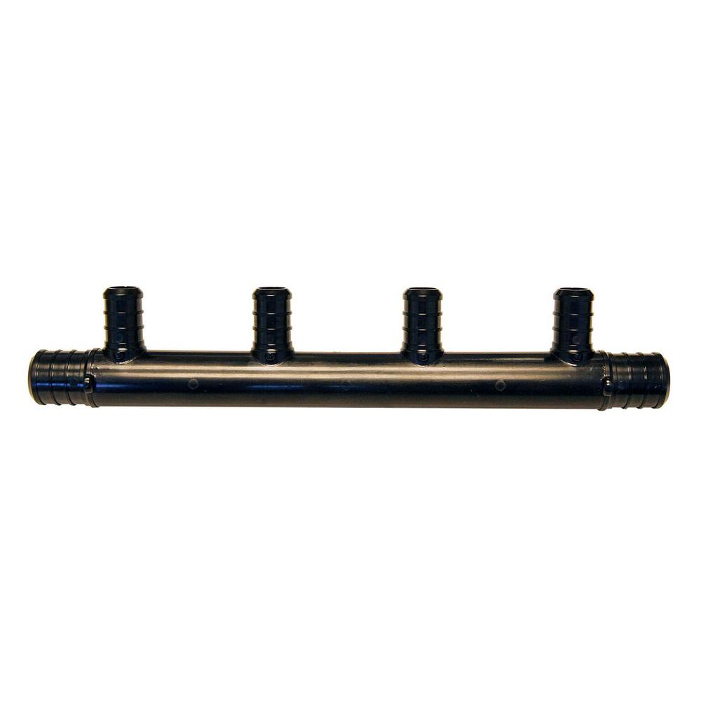 3/4 in. Barb Inlets x 1/2 in. Barb 4-Port PEX Open