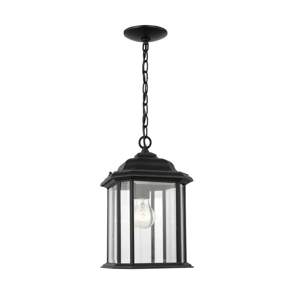 Kent 1-Light Black Outdoor Pendant Light