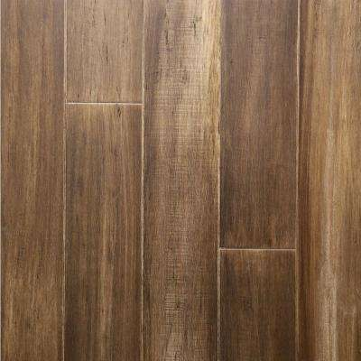 Take Home Sample - Smokehouse Engineered Rigid Core Bamboo Flooring - 5.12 in. Wide x 6 in. Length