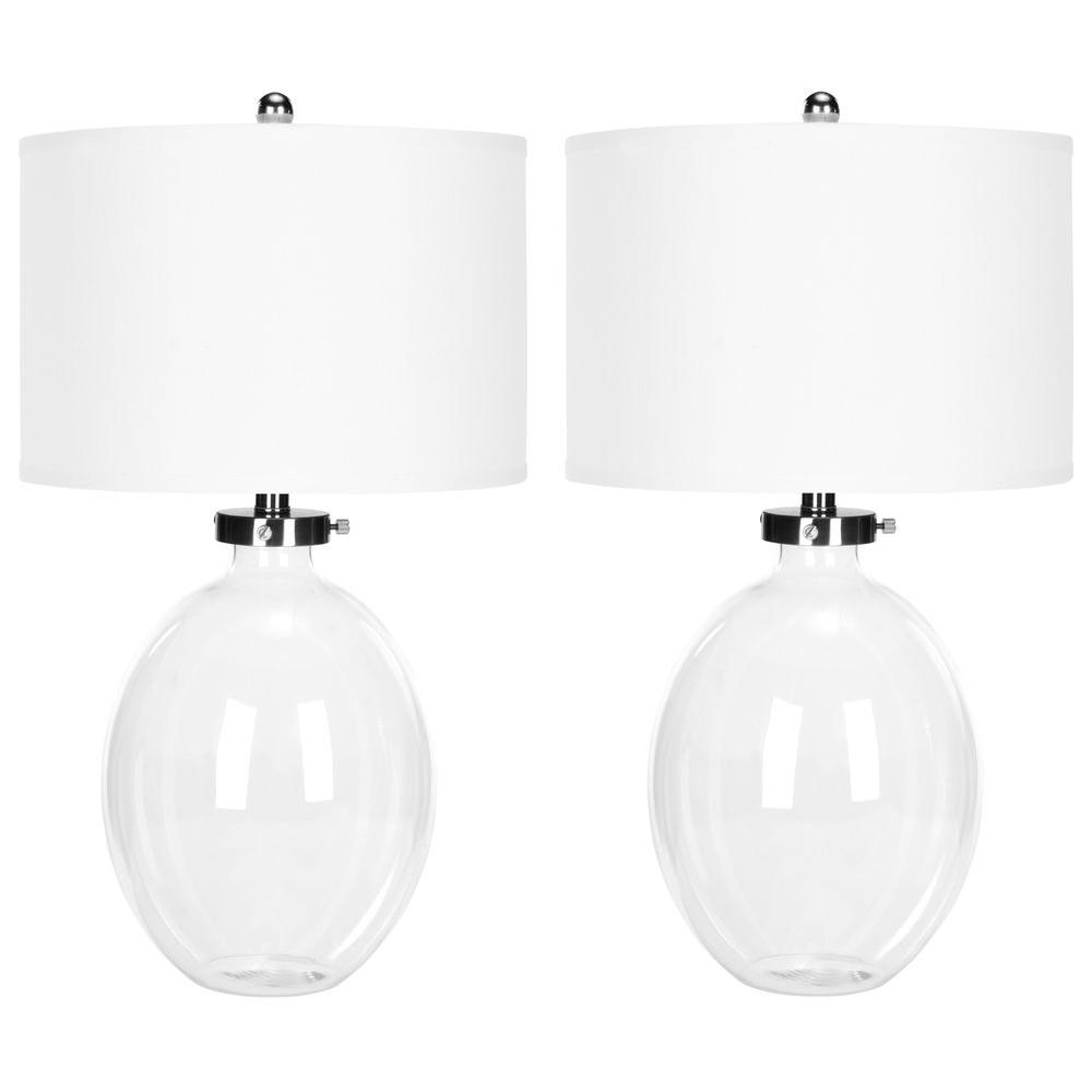 Clear Glass Table Lamp (Set Of 2)