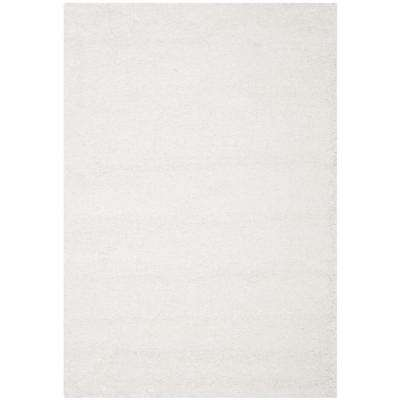 California Shag White 7 ft. x 10 ft. Area Rug