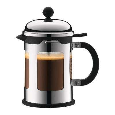 Chambord 4-Cup Stainless Steel French Press Coffee Maker