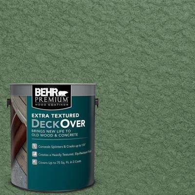 1 gal. #SC-126 Woodland Green Extra Textured Solid Color Exterior Wood and Concrete Coating