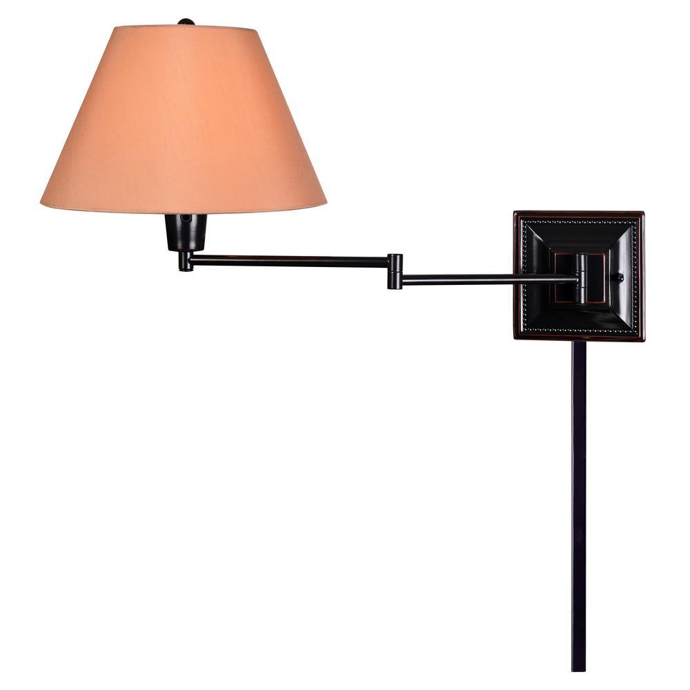 Denman 1-Light Bronze Wall Swing Arm Lamp